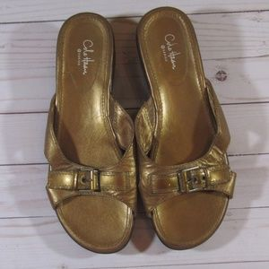 Cole Haan Nike Gold Sandals